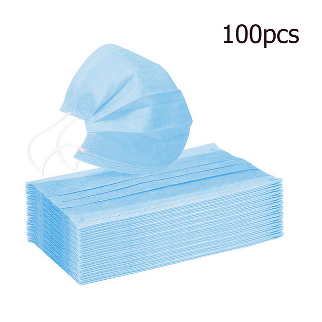 10/20/50/100pcs Disposable mouth mask diapers Earloop filter Non woven mouth masks 48 hours shipping 3