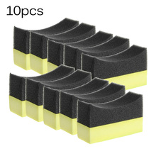10pcs Car Multi-purpose Tyre Tire Dressing Applicator Curved Foam Brush Sponge Pad washing tool