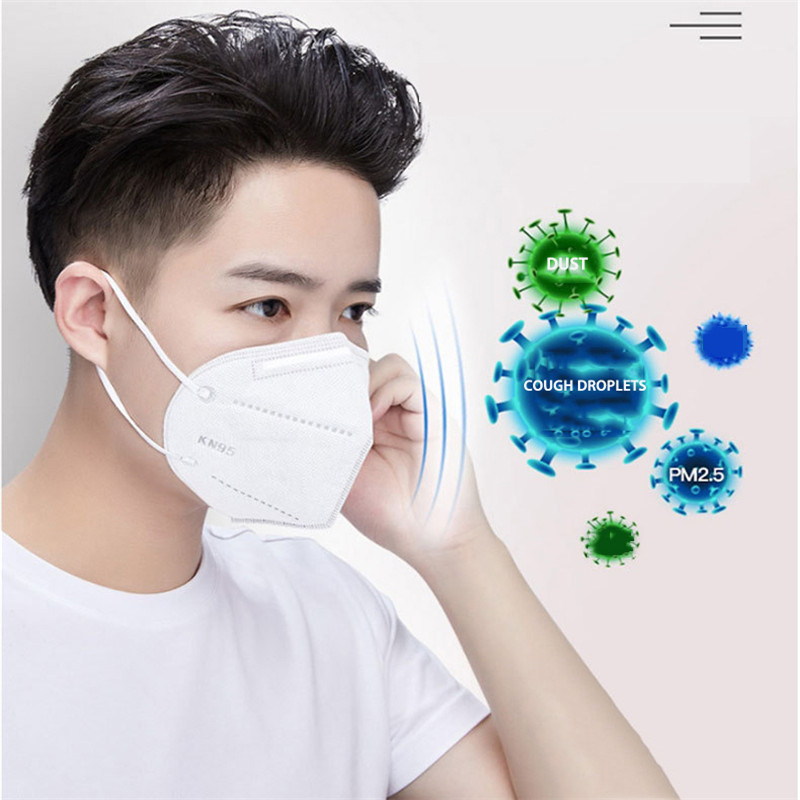 10PCS KN95 Mask PM2.5 Smog Dustproof Mouth Safety Face Disposable Masks Earloop Unisex Mask Respirator