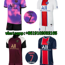 Jérsei de futebol 2020-21 kit jérsei de futebol masculino + crianças mtappe 2021 paris neymar jr icardi verratti kimpembe 2021 crianças camisa de futebol