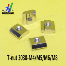 T-track slider nut thread M4 M5 M6 M8 T-slide for 3030 series aluminum profile linker accessories(China)