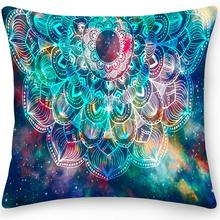 Double Side Mandala Decorative Pillow Case Polyester Square Cushion Cover Throw Pillow Office Sofa Pillow Home