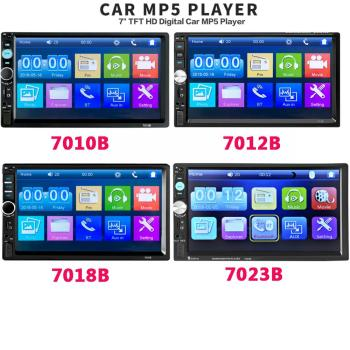 2 din Car Radio 7 HD Autoradio Multimedia Player 2DIN Touch Screen Auto audio Stereo MP5 Bluetooth USB TF FM Camera image