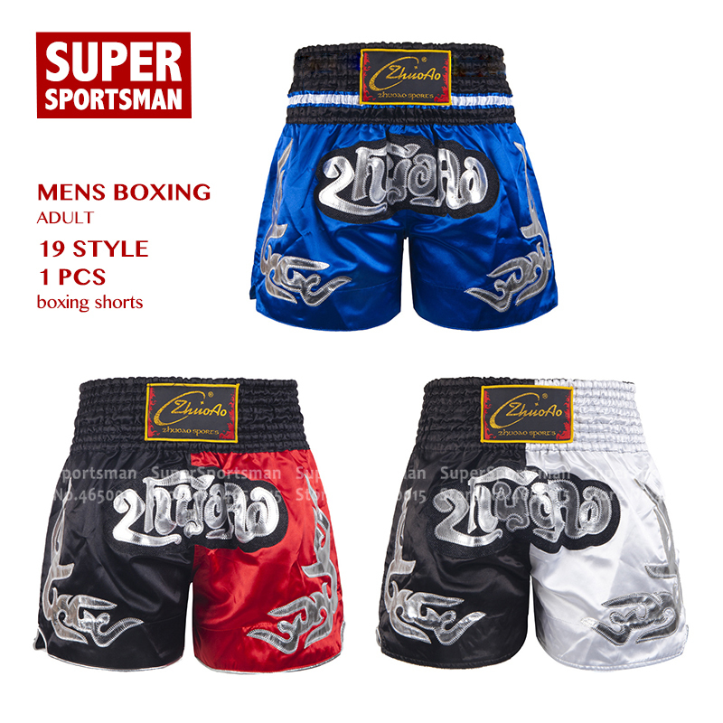 Men/'s Muay Thai Boxing Sparring MMA Shorts Kickboxing Grappling Fighting Trunks