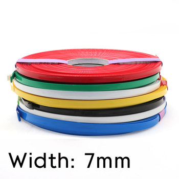 Width 7mm PVC Heat Shrink Tube Dia 4mm Lithium Battery Insulated Film Wrap Protection Case Pack Wire Cable Sleeve Colorful image