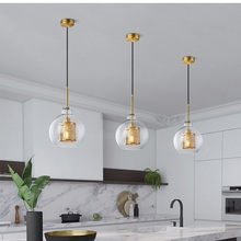 LukLoy Modern Pendant Light Nordic Pendant Lamp Retro Vintage Bedside Lamp Loft Kitchen Island Suspension Lighting Fixture