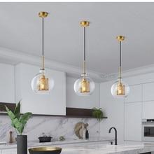 LukLoy lámpara colgante nórdica, moderna, Retro, Vintage, para mesita de noche, Loft, Isla de cocina, accesorio de iluminación de suspensión