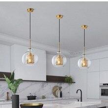 Lukloy moderno pingente de luz nordic lâmpada retro vintage lâmpada de cabeceira loft cozinha ilha suspensão luminária