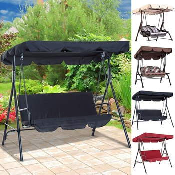 Outdoor Garden Swing Cover Waterproof Swing Cover Dustproof Chair Replacement Canopy Spare Fabric Cover Dust Covers UV Resistant