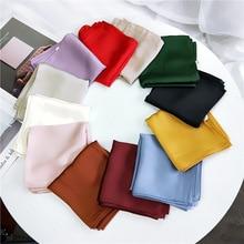 53*53 women scarf cotton Solid pure color small square towel
