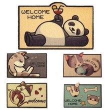 Entrance Hallway Welcome Doormat Rectangle Printed Non-slip Floor Rugs Front Door Mat Outdoor Carpet Bedroom Cat Litter Pad
