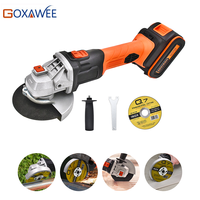 GOXAWEE Electric Cordless Angle Grinder 20V Rechargeable Lithium Battery 4000mAh Grinding Machine Power Tools For Cutting Metal