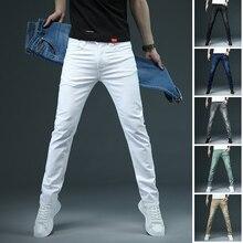 White Jeans Clothing Denim Pants Skinny Elastic Black Male Casual Men's Cotton Fashion