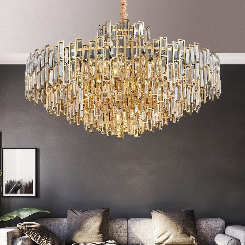 Crystal Chandelier Living Room Lighting Bedroom Lamp Atmosphere Modern Minimalist Net Red Light Lighting Restaurant Lamp Light