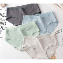underwear 6pc/bag new cotton lovely middle waist briefs young girl Antibacterial panties solid Teenagers Intimates L  XXL