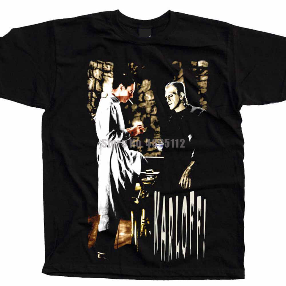 Frankenstein Movie Poster Men Personalized Tshirt Like T-Shirt Likee Tshirts Loki T-Shirts Big Size Apurbb image