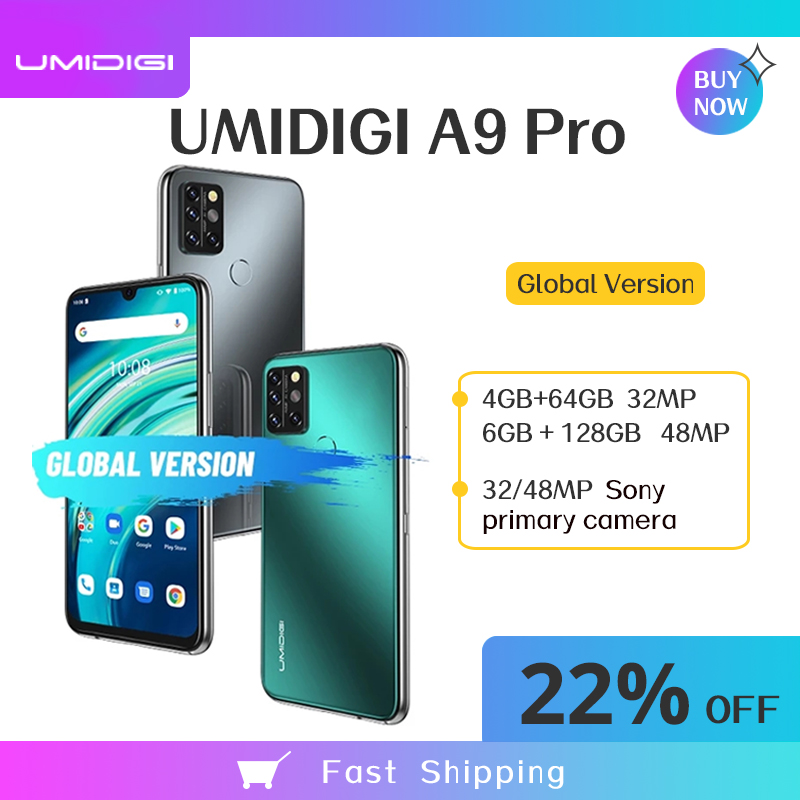 UMIDIGI A9 Pro Smartphone 4/6GB 64/128GB Global Version 6.3