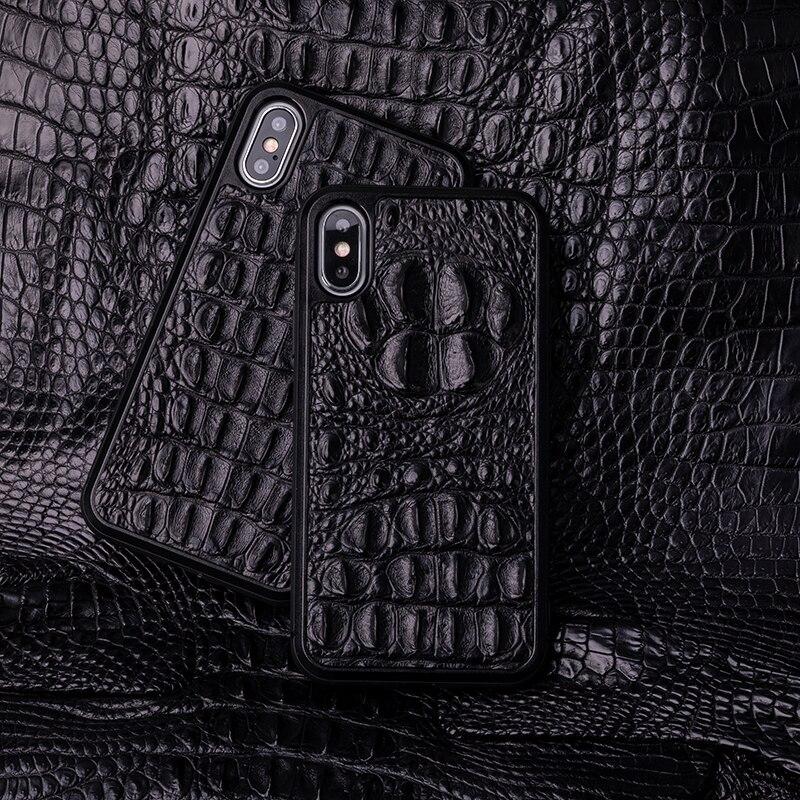 Laque qui cuit téléphone Grain de Crocodile étui pour iphone X XS Max XR pour Apple 5 5S SE 6 6S 7 8 Plus protéger coque de téléphone équipée
