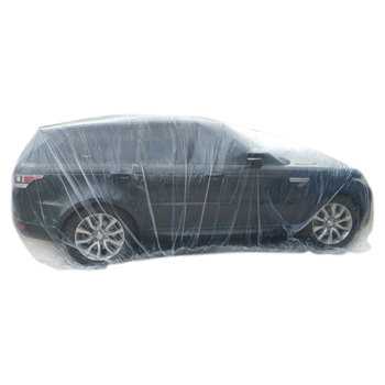 Disposable Car Cover Protect Waterproof Transparent Plastic Dust Cover Car Rain Cover Convenient Outdoor