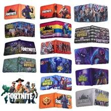 Fortnite Mens Wallet Leather PU Bifold Short Purse Men Wallets Fortress Night Coin Pouch Multi-functional Card Holder Money Clip