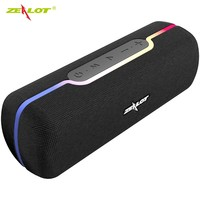 Zealot s55 controle de toque alto-falante portátil sem fio bluetooth caixa de som baixo estéreo de alta fidelidade com tws e rádio microfone embutido