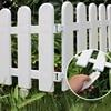 5pcs Picket Round Fence Garden Rail Fence Indoor Outdoor Lawn Patio DIY Fairy Garden Miniature Small Wood Fencing Gates Decor flash sale
