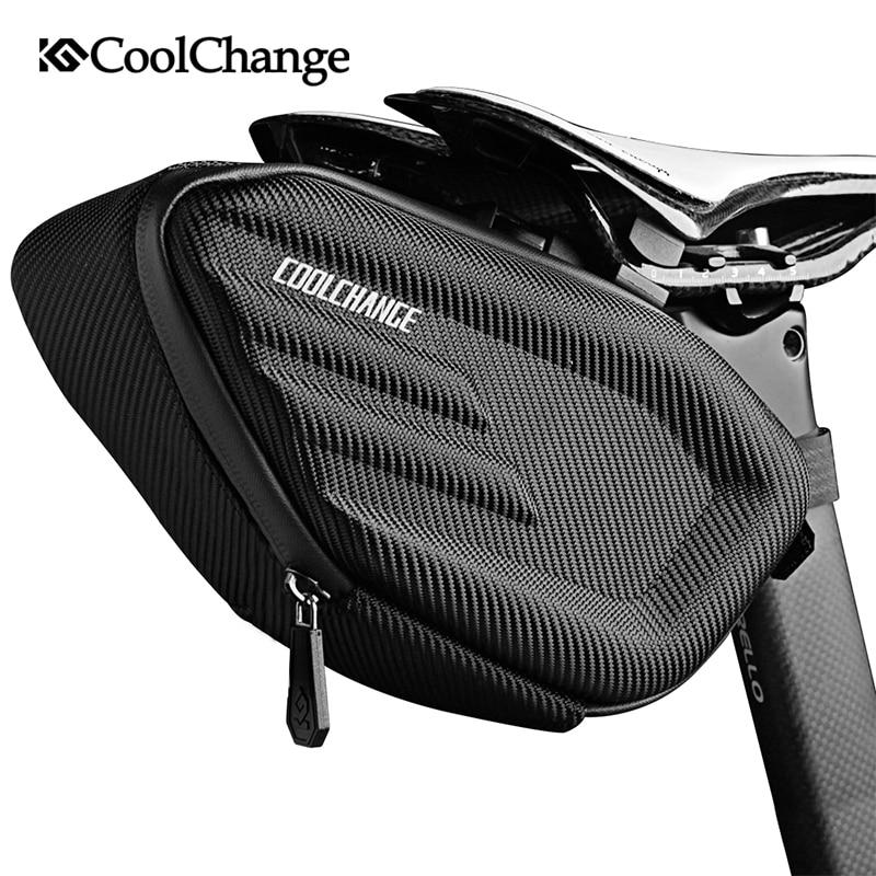 CoolChange Bicycle Saddle Bag Waterproof MTB Bike Rear Bag Reflective Cycling Rear Seat Tail Large Bag Bike Accessories