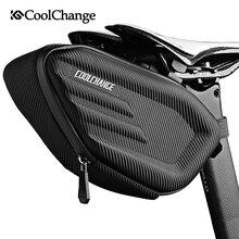 CoolChange Bolsa para sillín de bicicleta, equipaje para bicicleta, reflector, resistente al agua, para ciclismo de montaña