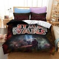 Home Textile Star Wars 3d Bedding Set Queen King Europe/USA/Australia Size Duvet Cover Set with Pillow Case Adult Kids Bed Linen