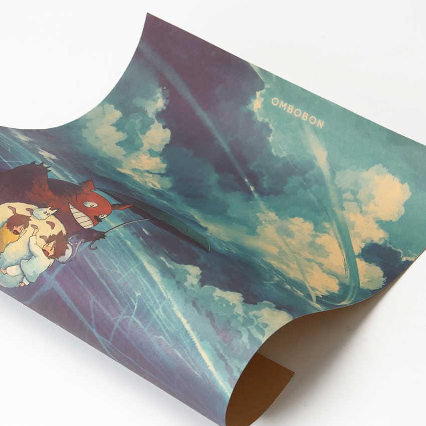جارتي Totoro كرافت ورقة المشارك اليابانية الرسوم المتحركة ملصق ديكور الجدار ملصق 50.5X35 سنتيمتر
