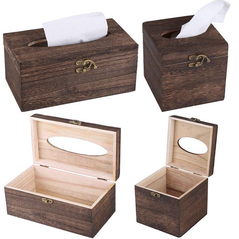 Бумажная стойка деревянная коробка для хранения салфеток для дома автомобиля Прямоугольная форма контейнер для бумажных платков полотенце салфетка диспенсер для салфеток Органайзер держатель