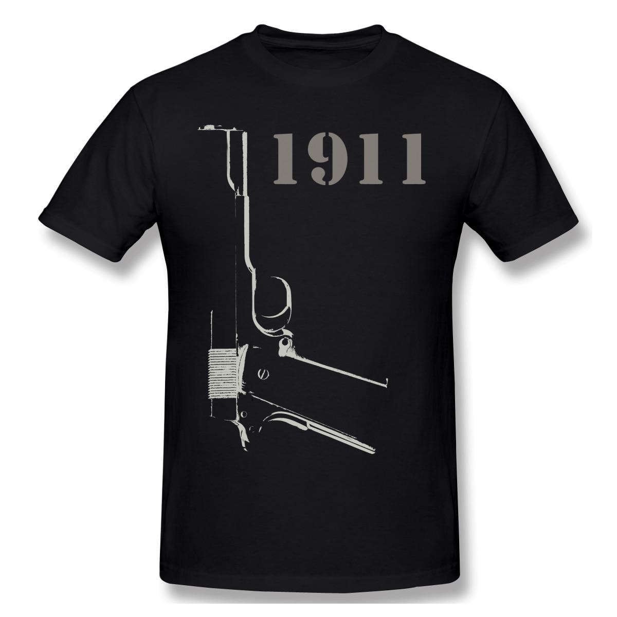 Battlefield T Shirt rouge T-Shirt modèle 1911 hommes mode manches courtes