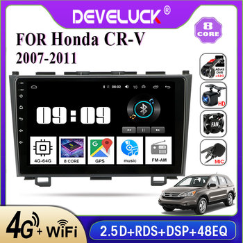 Android 9.0 2 din Car Radio Multimedia Video Player GPS Navigation for Honda CRV CR-V 2006-2012 4G+64G IPS screen RDS AM stereo image