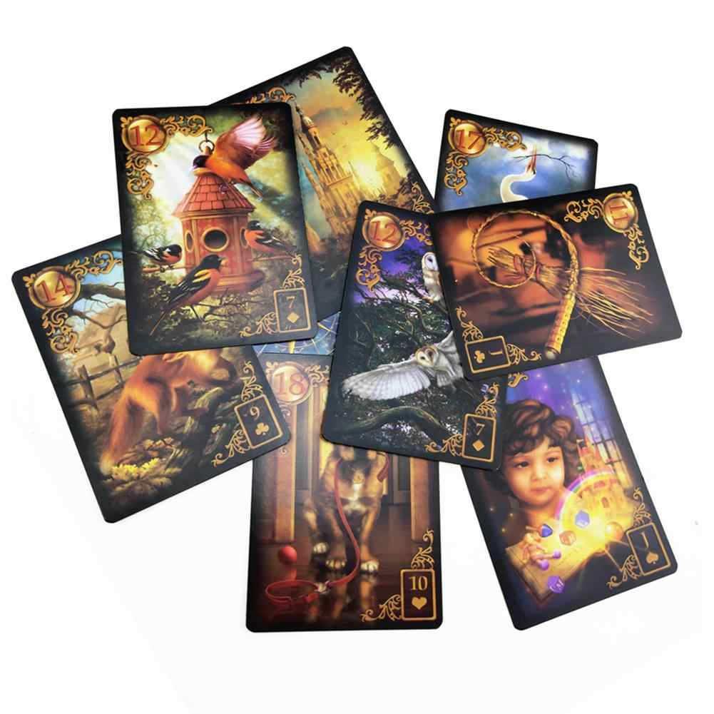 47 Cards Gilded Reverie Lenormand: Expanded Edition Mass Market Paperback With Online Guidebook For Children Audit Games