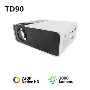 Image 1 - جهاز عرض صغير TD90 HD 720P LED ، جهاز عرض ليزر 4k للسينما المنزلية ، مع WiFi و VGA و AV