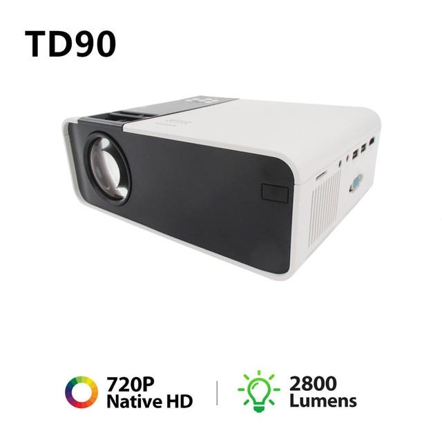 جهاز عرض صغير TD90 HD 720P LED ، جهاز عرض ليزر 4k للسينما المنزلية ، مع WiFi و VGA و AV