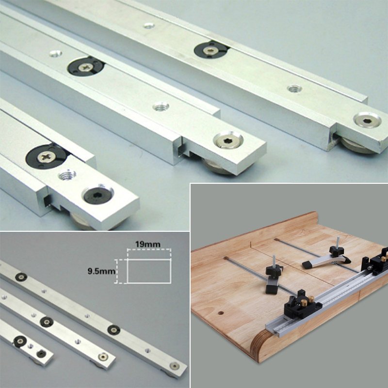 Miter Tool Bar T Slot Slider Metal Silver Pusher Limit Woodworking Chute Beveled Track Modification Portable Practical Hardware