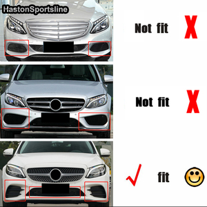 Image 3 - W205 B Style Carbon Fiber Body Kit Front lip for Mearcedes Benz W205 C205 S205 C180 C200 C300 C43 with Amg Sport Bumper 2019UP