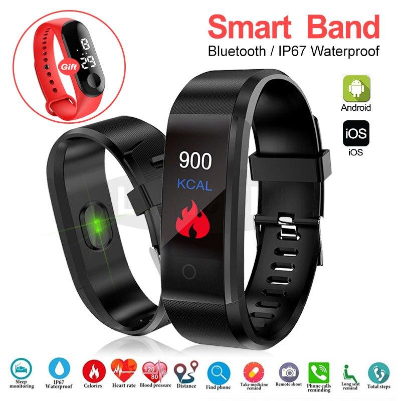 Heart Rate Monitoring Step Count Smart Bracelet Sport Smart Watch Blood Pressure Fitness Tracker Smart Wristband