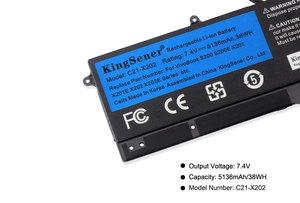 Image 5 - KingSener C21 X202 Laptop Batterie für ASUS VivoBook S200 S200E X201 X201E X202 X202E S200E CT209H S200E CT182H S200E CT1 5136mAh