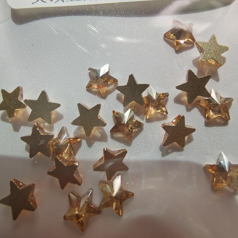 20 шт самоклеящиеся стразы цветные rivoli star Клей на декоративное