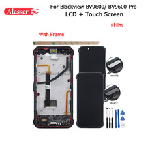 Alesser For Blackview BV9600 Pro LCD Display And Touch Screen +Frame +Film +Fingerprint Sensor Button+Tools For Blackview BV9600(China)