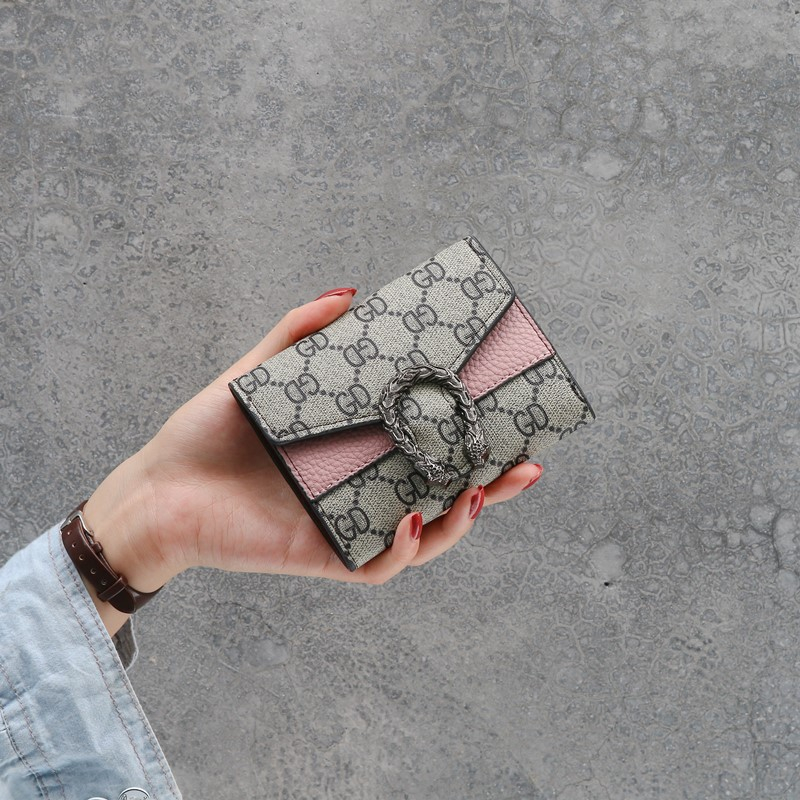 Vintga Magnet Buckle Wallets Purses Dragon Head For Women Girls Ladies Money Coin Pocket Card Holder Female Wallets Clutch Bag