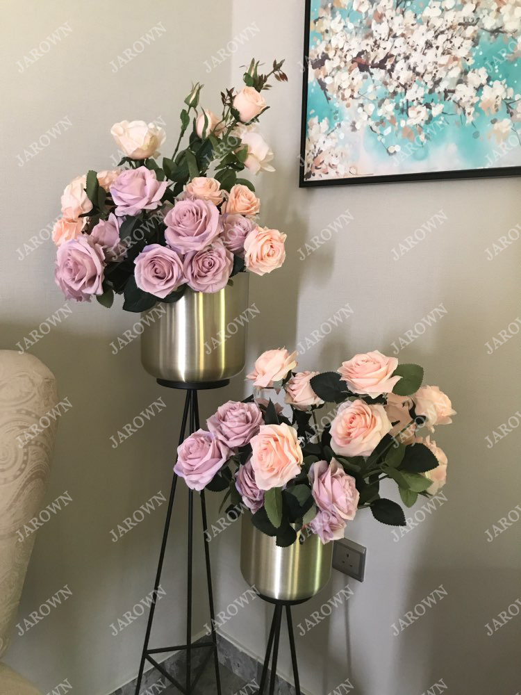 Artificial Silk 1 Bunch French Rose Artificial Flower For Wedding And Party Accessory 10