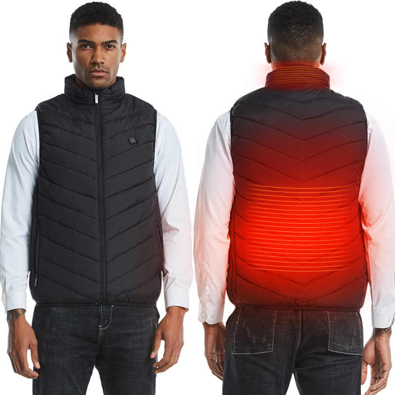 Unisex Electric Heated Vest Jacket Waistcoat Thermal Heating Winter Body Warmer