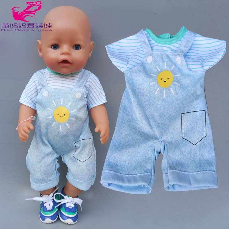 Pajama overall for 43cm 40cm baby new born doll clothes children girl toys outfits