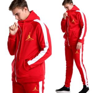 Image 4 - 2019 New Brand Tracksuit Fashion JORDAN 23 Men Sportswear Two Piece Sets All Cotton Zipper sports hoodie+Pants Sporting Suit Mal