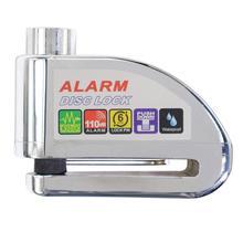 Silver Alarm Lock Anti-theft lock Disc Lock Alarm Motorcycle Alarm Padlock with 110db Alarm Sound for Motorcycles Bicycles цена в Москве и Питере