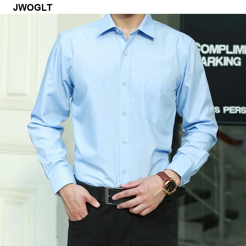 Plus Size 8XL 7XL 6XL 5XL 4XL Mens Business Casual Long Sleeved Button Shirt Classic Solid