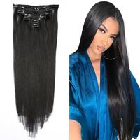 Hair Brazilian Remy Straight Hair Clip In Human Hair Highlight Colored black Extensions Colored 7P/Set Full Head Sets Ship Free